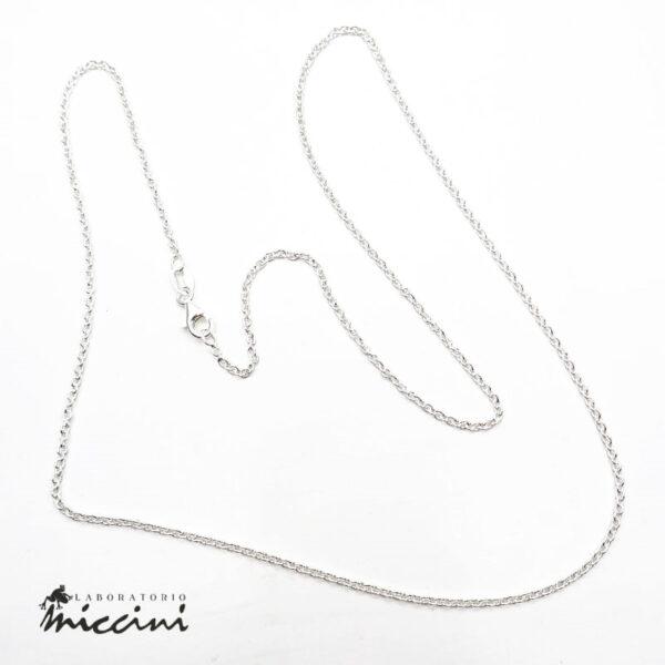 catenina con maglia forzatina in argento 925