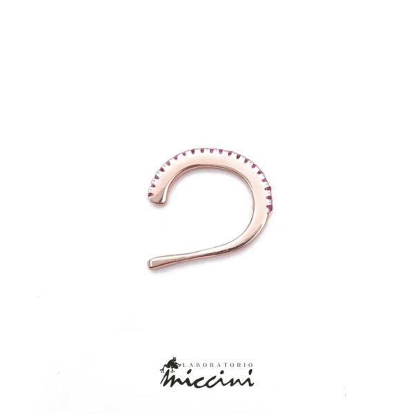 ear cuff in argento con zirconi in 8 varianti di colore