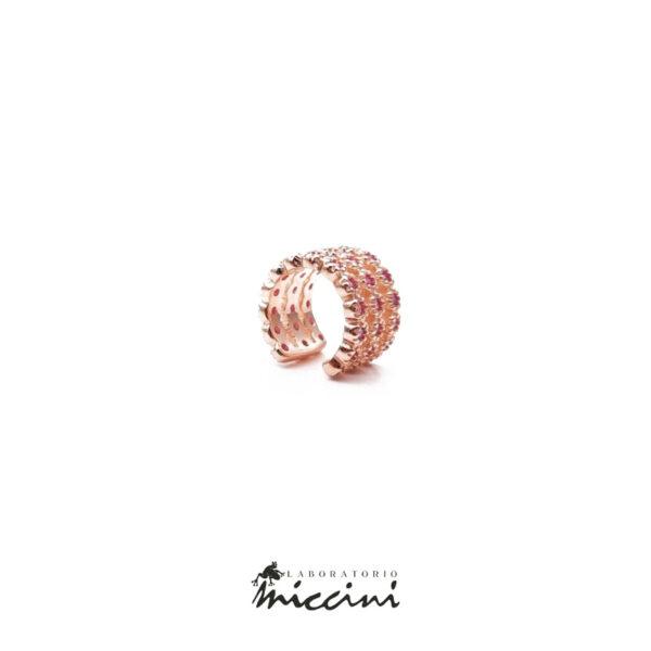 earcuff in argento rosato