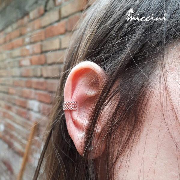orecchino ear cuff senza buco per padiglione con zirconi