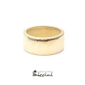 anello a fascia in oro giallo 18 kt.