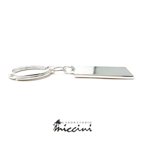 portachiavi personalizzabile con incisione in argento 925