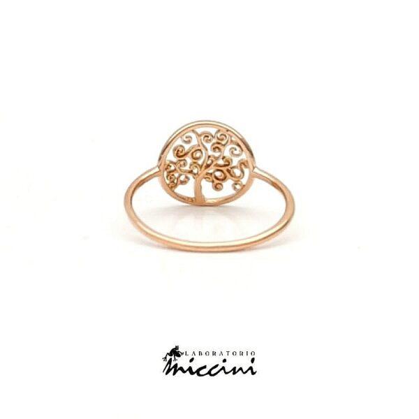 anello albero della vita in oro rosa