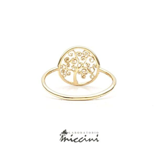 anello in oro raffigurante l'albero della vita
