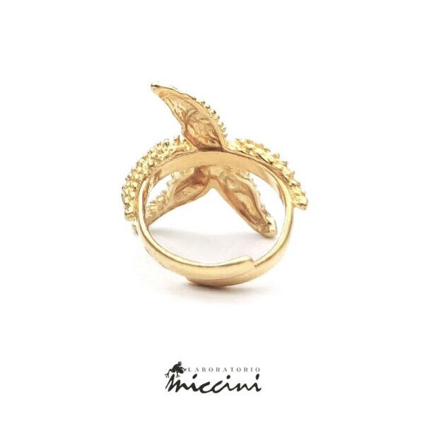 anello a forma di stella marina regolabile