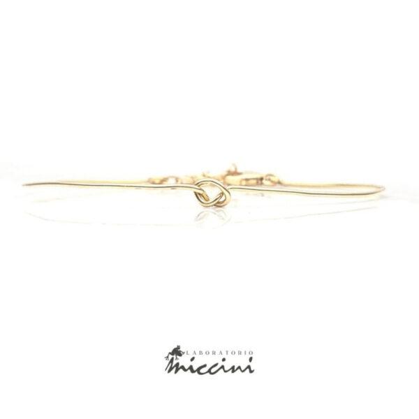 bracciale a filo con nodo in oro giallo