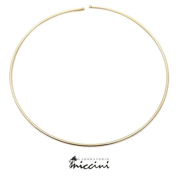 collana girocollo rigida in argento 925 dorato