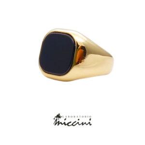 anello chevalier unisex in oro