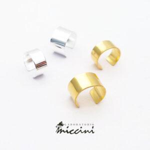 ear cuff a fascia in argento rodiato o dorato